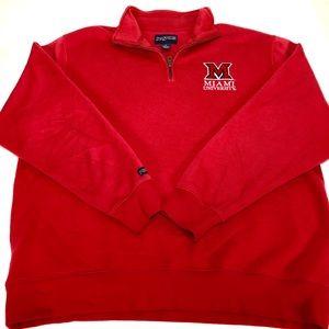 Miami University of Ohio Jansport quarter zip XL